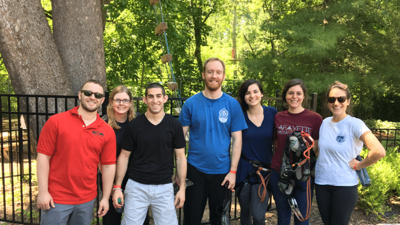 Ropes course at Elmwood Park Zoo